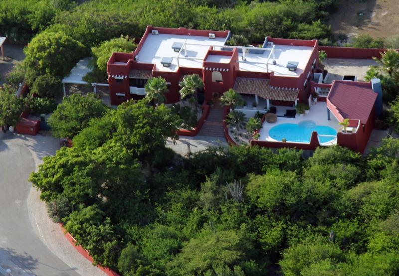 Arial view/(website: hidden) - Luxery Rental, Adobe Style Villa Cas Cora - Kralendijk - rentals