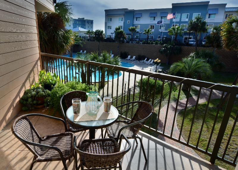 Relax on your private balcony overlooking the largest Maravilla pool - Galveston Tropical Getaway at Maravilla - 3 pools - Galveston - rentals