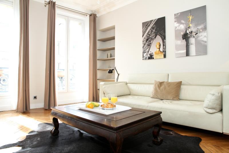 Living Room - 27. MODERN APARTMENT - ENJOY THE BEST OF LE MARAIS - Paris - rentals