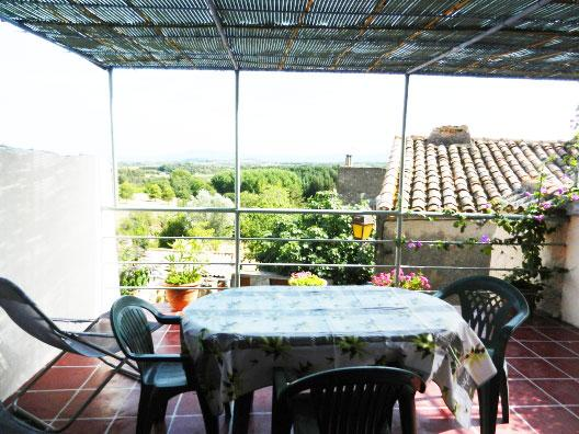 roof terrace with views - Languedoc House with views,terrace and garden - Eyne - rentals