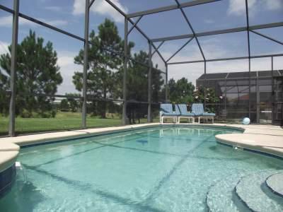 Pool Area - Wow Luxury Disney 5 bed villa pool, spa, g/room!! - Orlando - rentals