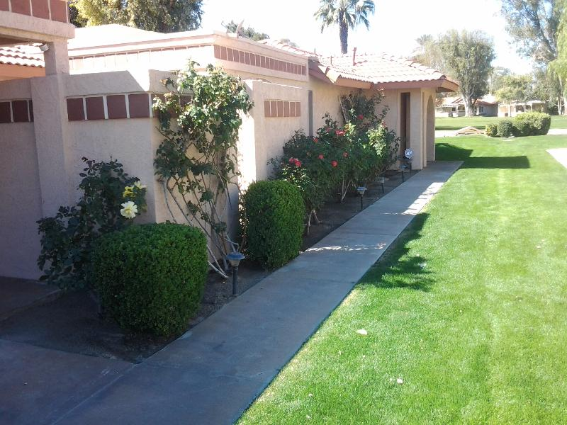 Walkway to Front Door - Tranquility by the Waterfall - Indio - rentals