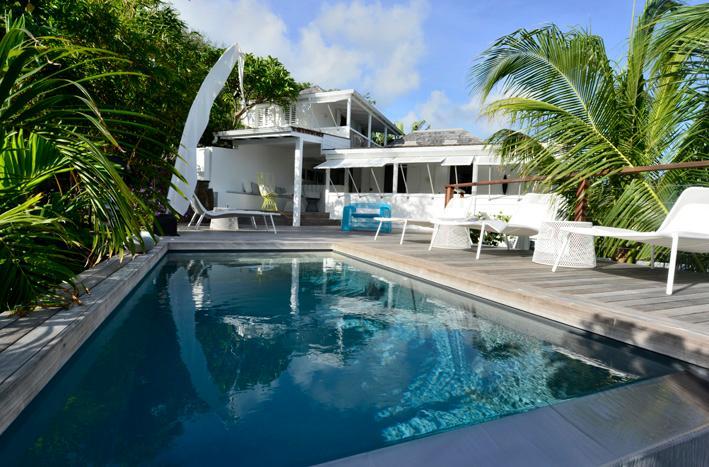swimming pool deck - villa Pamela Popo, Bohemian chic design - Saint Martin-Sint Maarten - rentals