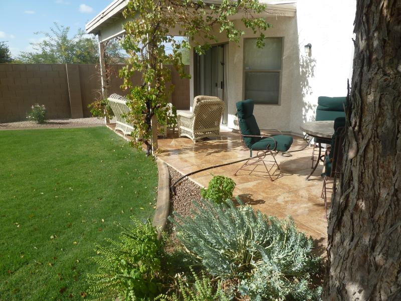 Quaint Backyard with a large private pool, and several places to entertain - Gorgeous 5 bd, 3bt home away from your home in PHX - Chandler - rentals