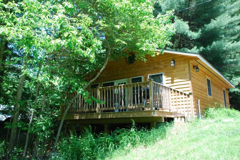Brookie Cottage back deck facing the Savage River - Brookie Cottage on the Savage River - Swanton - rentals