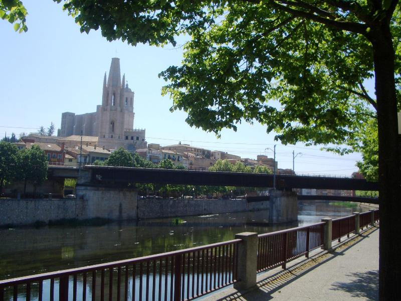 Girona Cathedral from the riverbank near the flat - Bright, Riverside Apartment in Girona No 4 - Girona - rentals