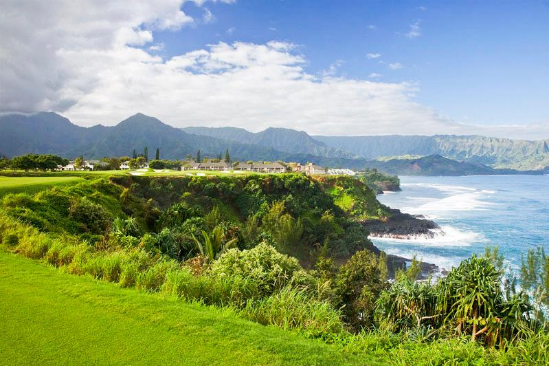 View of Makai Club Resort from the Makai Golf Club - A Peaceful Haven on the North Shore of Kauai - Princeville - rentals