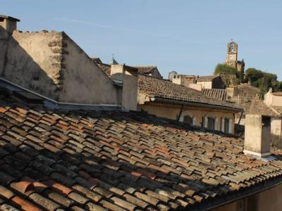 View from living room and both bedrooms - Charming 2 bedroom apartment centrally located - Lourmarin - rentals