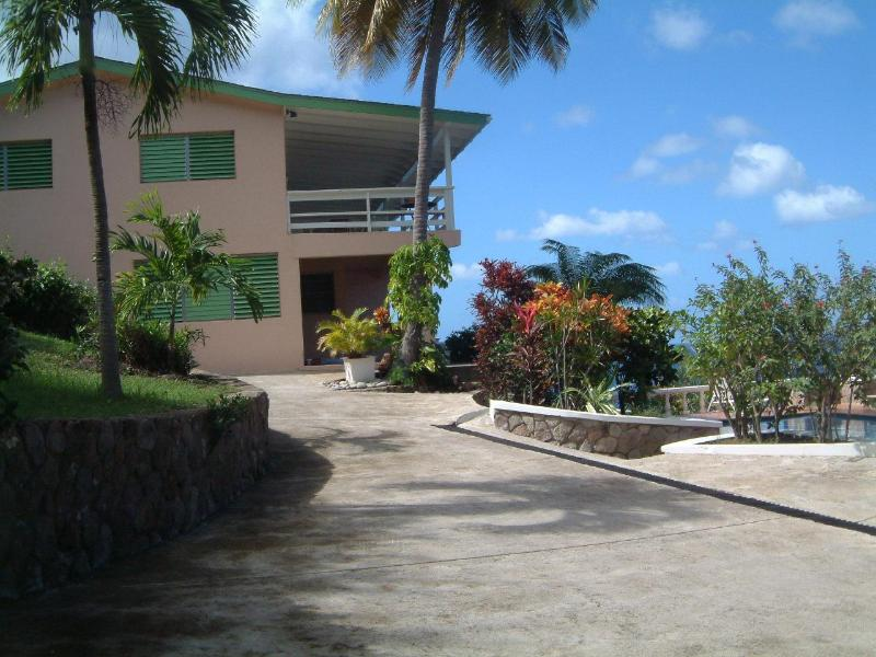 Approach to house - Montserrat Private Paradise; Min-y-Don - Woodlands - rentals
