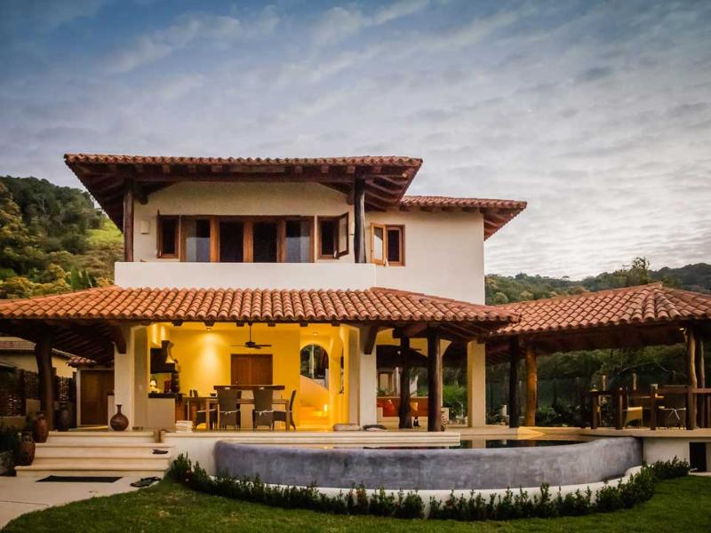 View of the house from the entrance - Inside/Outside Living on Beach in Troncones - Troncones - rentals
