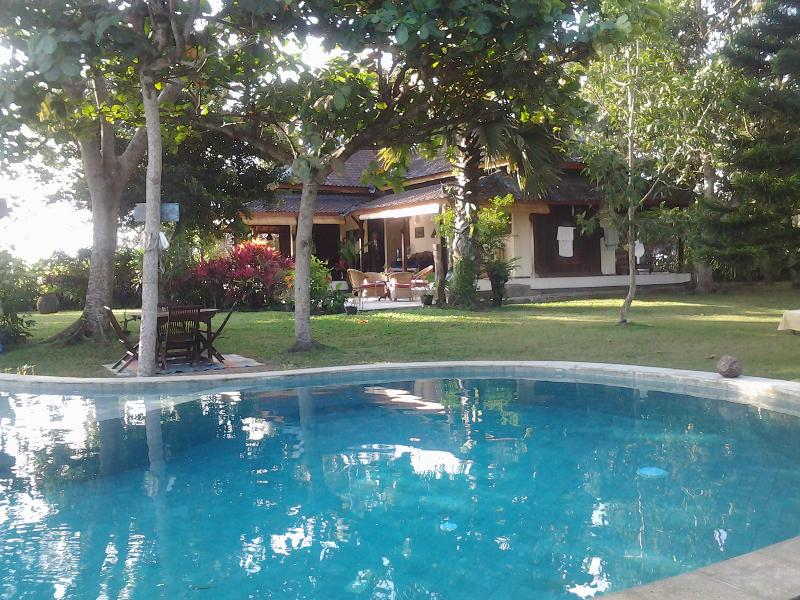 The house overlooking the swimming pool - Peaceful bungalow in the middle of ricefields: Kelapa Biru - Bali - rentals