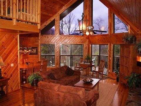 EVEN The view from inside is fantastic - SPECTACULAR VIEW LUXURY SMOKY MT. CHALET 5 BR 3 BT - Sevierville - rentals