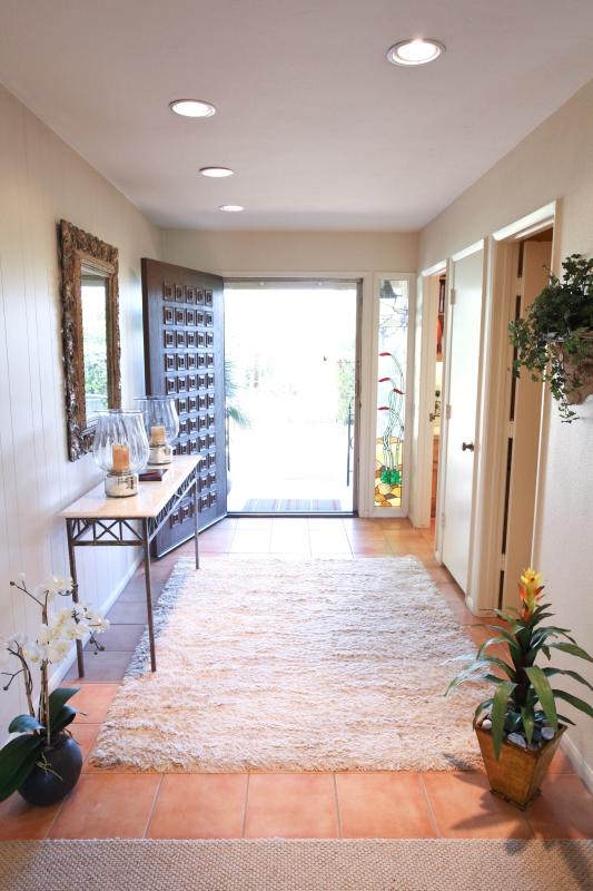 Front Door Entrance - Luxurious 3BR Desert Home w/ Indoor Private Pool - Borrego Springs - rentals
