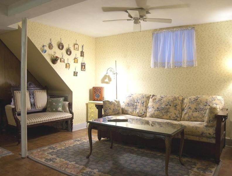 Living room, queen sleeper sofa - Fully Furnished 1.5 BR Spacious Lincoln Park Apt! - Chicago - rentals