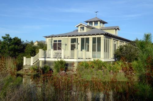 Cottage rear overlooking lake - Village of Tannin Architectural Beach Cottage - Orange Beach - rentals