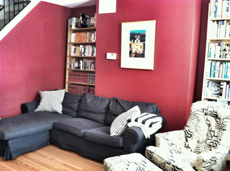 Living Room with Hundreds of Books - 3 Bedroom House in the Heart of Hampden - Baltimore - rentals