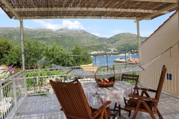 Terrace - Apartment in Zaton for up to 4 persons (Dubrovnik) - Zaton - rentals