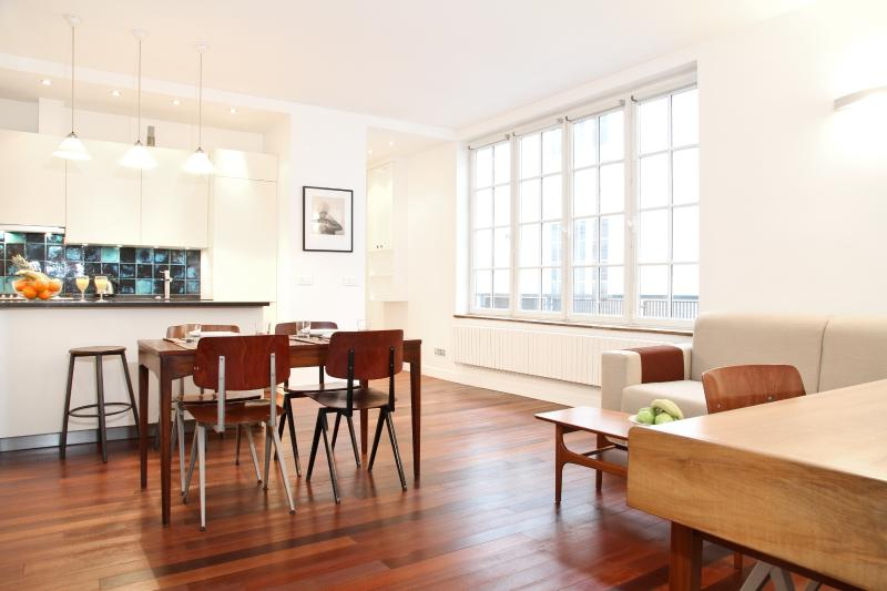Sunny Open-Plan Living Room and Dining Area - 42. Modern and Sunny Flat - Central and Quiet - Paris - rentals
