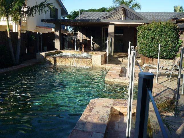 Fully fenced pool with spa to enjoy when not at the beach - Maureen Oasis - your own private waterfront home - Broadbeach - rentals