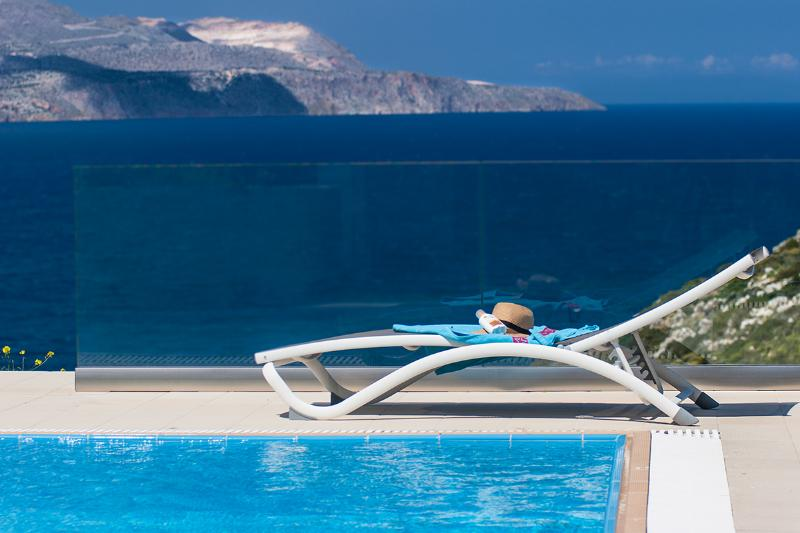 Stunning views from the pool - A high aesthetic luxury villa with heated pool - Chania - rentals