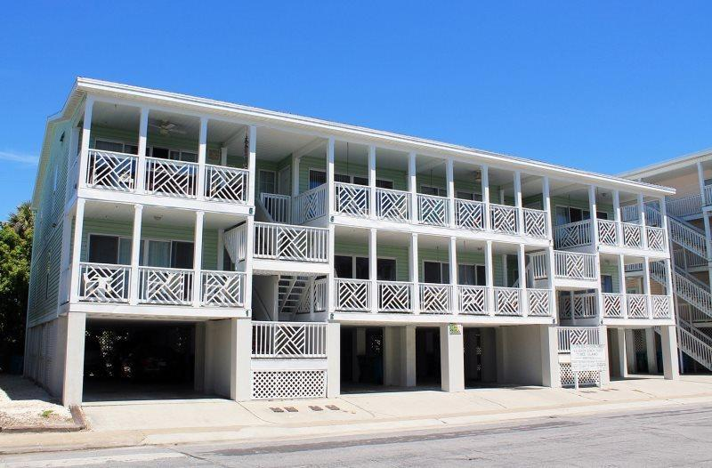 Enjoy the great ocean view from your private balcony and you are just steps to the beach - South Beach Ocean Condos - North - Unit 3 - Just Steps to the beach - Ocean View – FREE Wi-Fi - Tybee Island - rentals