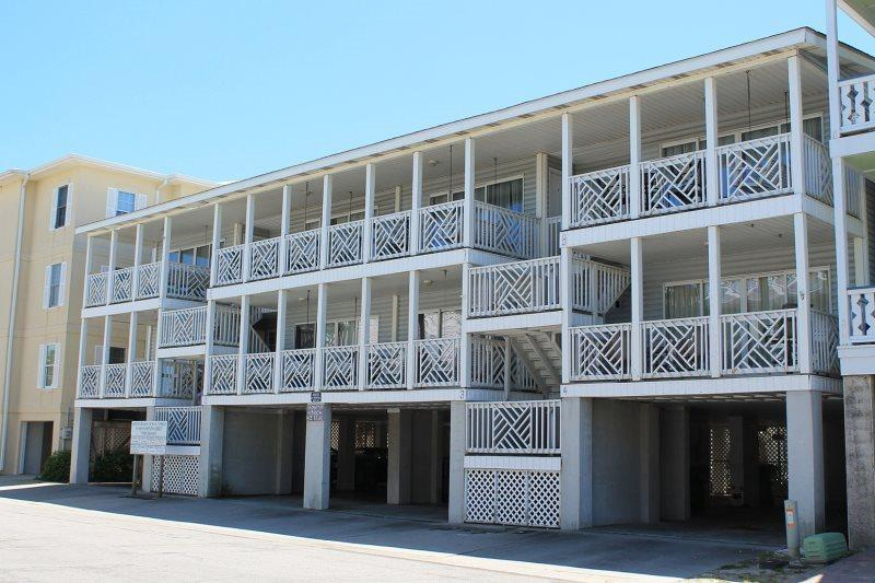 Enjoy the ocean view from your private deck and you are just steps to the beach as well - South Beach Ocean Condos, South - Unit 6 - Just Steps to the beach - Ocean View – FREE Wi-Fi - Tybee Island - rentals