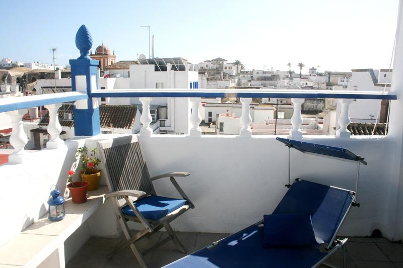 Terrasse over the roof and Africa - Casa Christina#Old town#Terrace with sea view - Tarifa - rentals