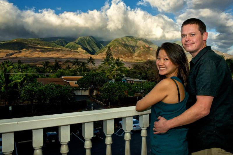 View from terrace - Lahaina Studio with Fantastic Mountain View - Lahaina - rentals