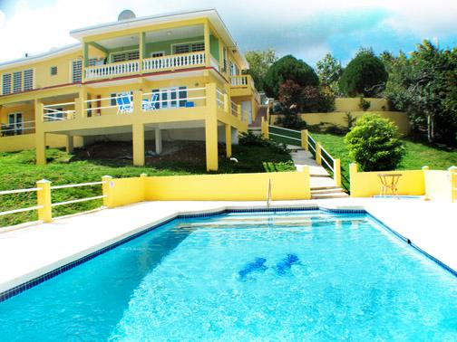 Pool and back of house - Vieques Paradise Villas at Cookies Paradise - Apt, - Isla de Vieques - rentals