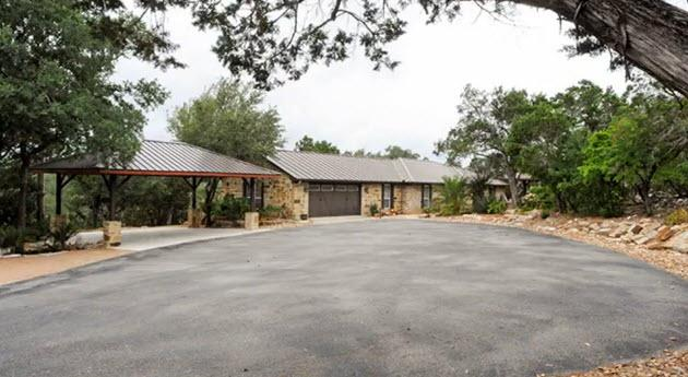 Front of home with carport - Resort Quality Home with Private Pool in Beautiful Hill Country - New Braunfels - rentals