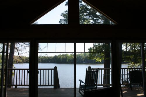 View as you step through the door - Waterfront Cottage at French Pond - Henniker - rentals