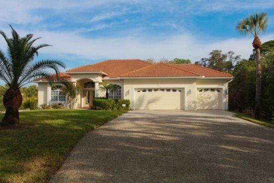 Stunning pool home with beautiful gardens - 1110 Manasota Beach Road - Image 1 - Venice - rentals