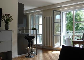 the living room - Modern Luxury Apartment Berlin at Checkpoint Charlie - Berlin - rentals