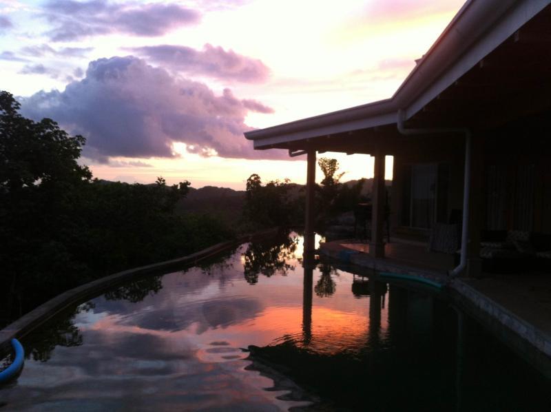Pool veranda view - Panoramic Jungle & Ocean views at Casa del Cielo - Tamarindo - rentals