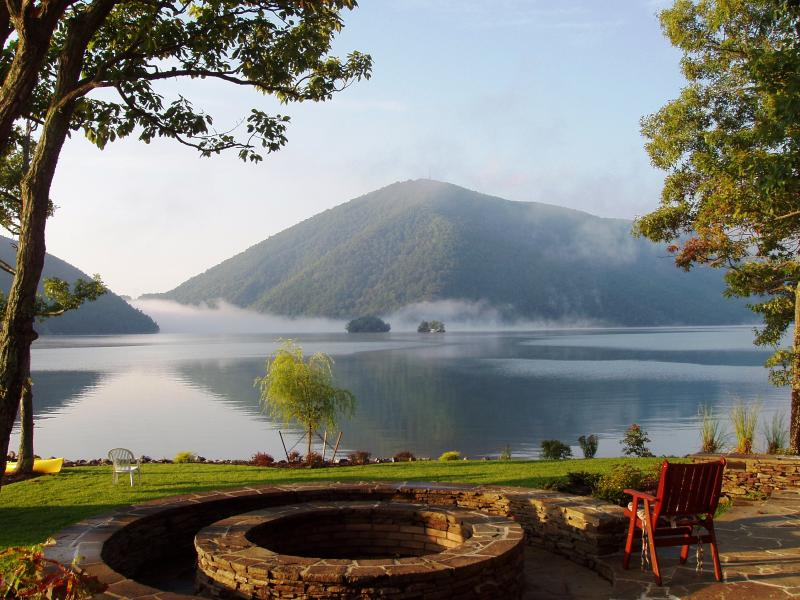 The iconic view of Smith Mountain Lake - from the patio of Sans Souci - European B&B - Sans Souci at Smith Mountain Lake - Moneta - rentals