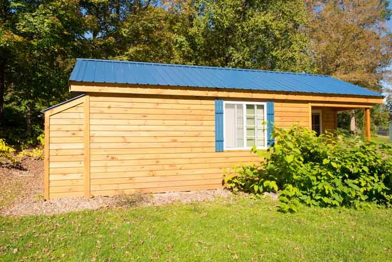 Outside of Blue Heron from street - Blue Heron - One Bedroom Cabin - Taberg - rentals
