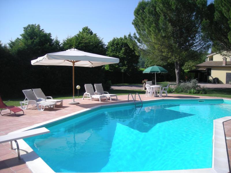 Poggetto pool in summer. - Poggetto Country Apartments, Todi (1 bed sleeps 2) - Todi - rentals
