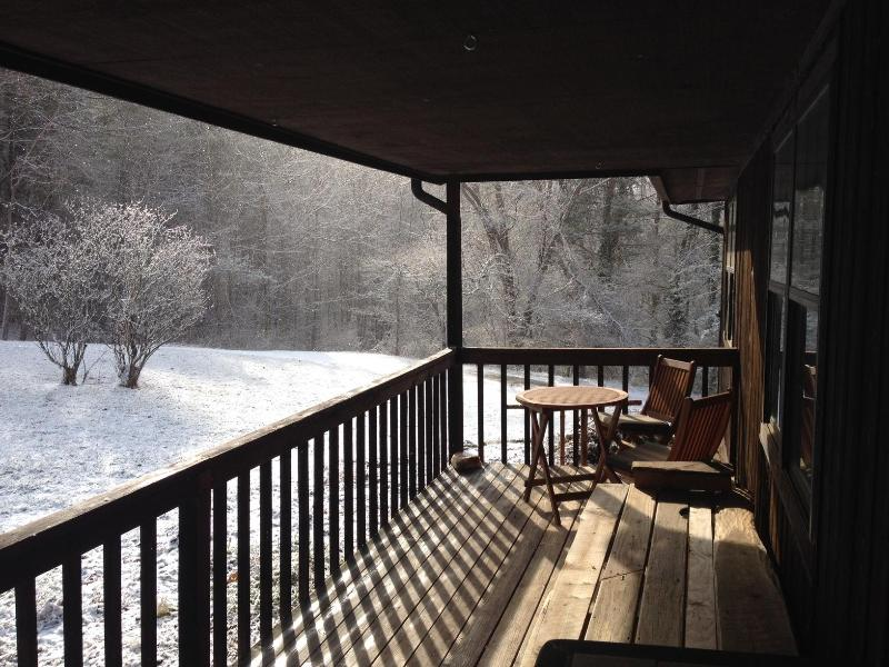Morning light on my private coffee spot - Ez Livin W Asheville - Asheville - rentals