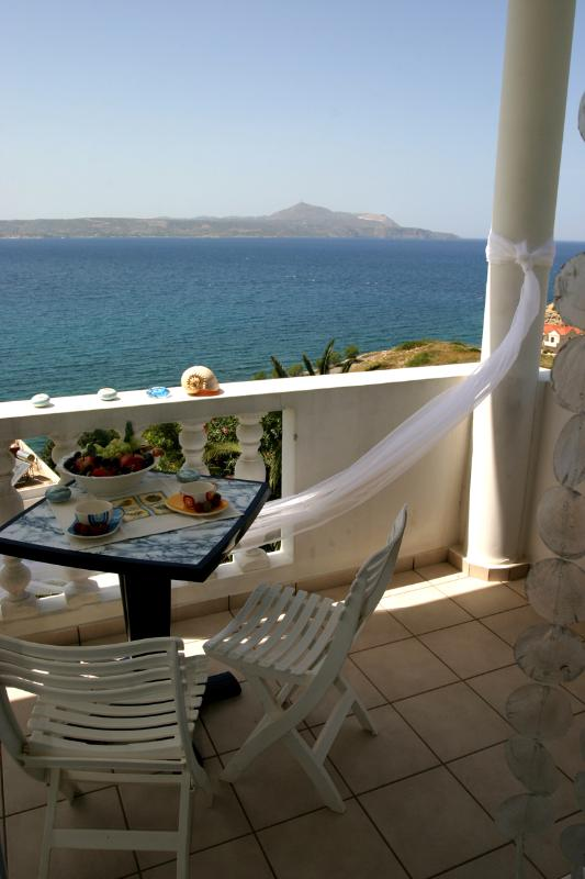 Room's Balcony View - Studio for 4 Persons (max 6 persons) - Chania - rentals
