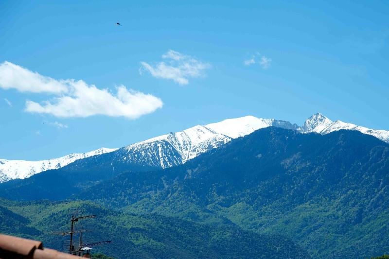 View of mount Canigou over the roof tops, snow covered for 8 months of the year - Beautiful village house, amazing  mountain views - Marquixanes - rentals