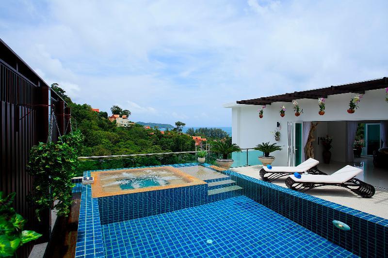 Swimming pool, Jacuzzi, Terrace - A3-1_KF_Penthouse - Kamala - rentals