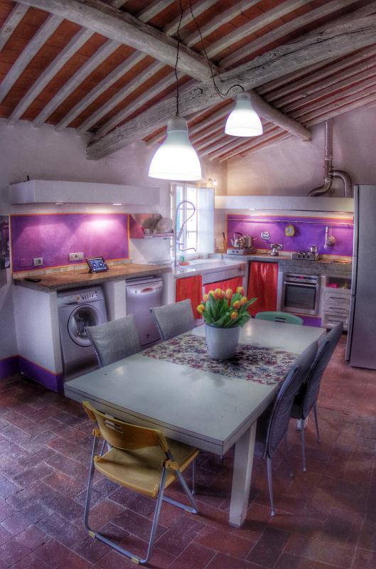 Dining room and kitchen - Tuscan Maremma apartment in Castagneto Carducci - Castagneto Carducci - rentals