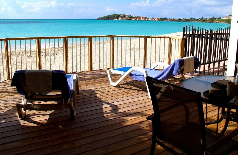private lanai - Gorgeous Beachfront Villa#9 at 'Villas on Great Bay' - Philipsburg - rentals