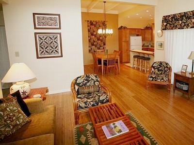 Living room - Tranquillity and elegance on the N. Shore of Kauai - Princeville - rentals