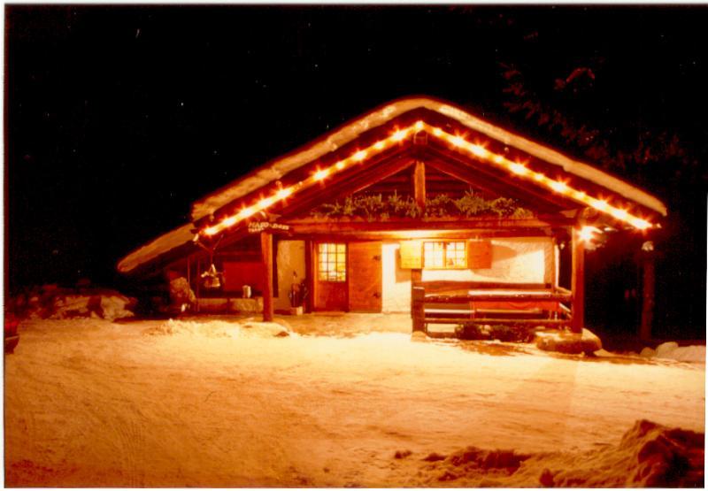 Chalet Maso Doss in inverno notturna - Chalet, per una vacanza nelle Dolomiti di Brenta - Madonna Di Campiglio - rentals
