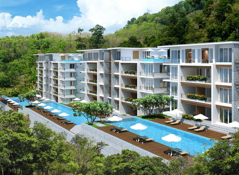 2 Bedroom Pool Access Condo between Patong - Kamala Phuket Thailand Glimpse of Sea Viea Water Falls - Pool Access Condo Patong - Kamala Water Falls - Patong - rentals