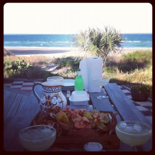 Dinner on the deck - Oceanfront Villa In Ormond Beach/Daytona Area - Ormond Beach - rentals
