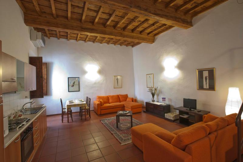 Living Room plus Kitchenette - Apartment Riccardo in the heart of Florence town - Florence - rentals