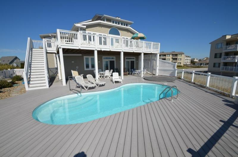 Private pool - BEAU SOLEIL Luxury oceanfront estate with pool - Emerald Isle - rentals