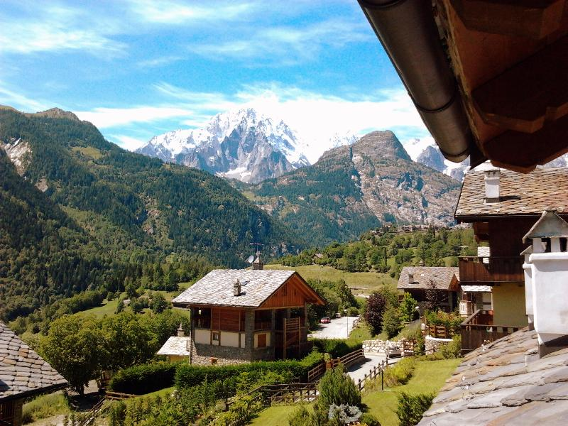 the view by the balcony - Courmayeur and Tour du Mont Blanc! - Pre-Saint-Didier - rentals